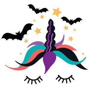 Halloween unicorn clipart svg stock Silhouette Design Store - View Design #227794: halloween sleepy unicorn svg stock