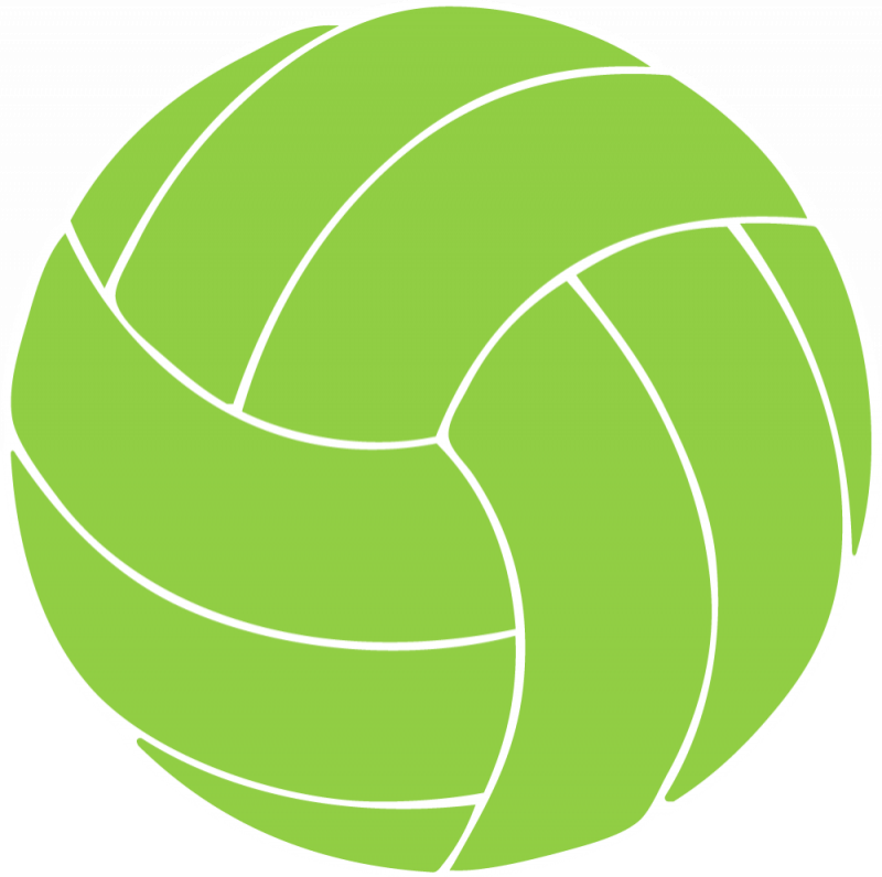 Halloween volleyball clipart clip art black and white library 28+ Collection of Green Volleyball Clipart | High quality, free ... clip art black and white library