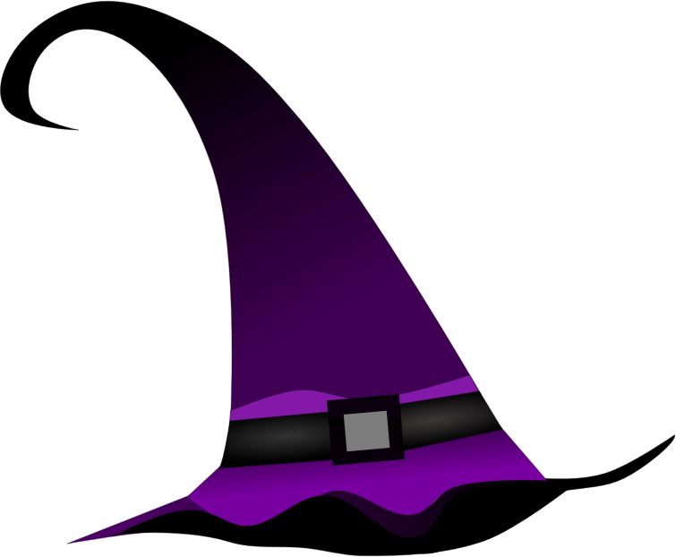Halloween witch hat clipart banner library library Clipart - Purple witch hat banner library library