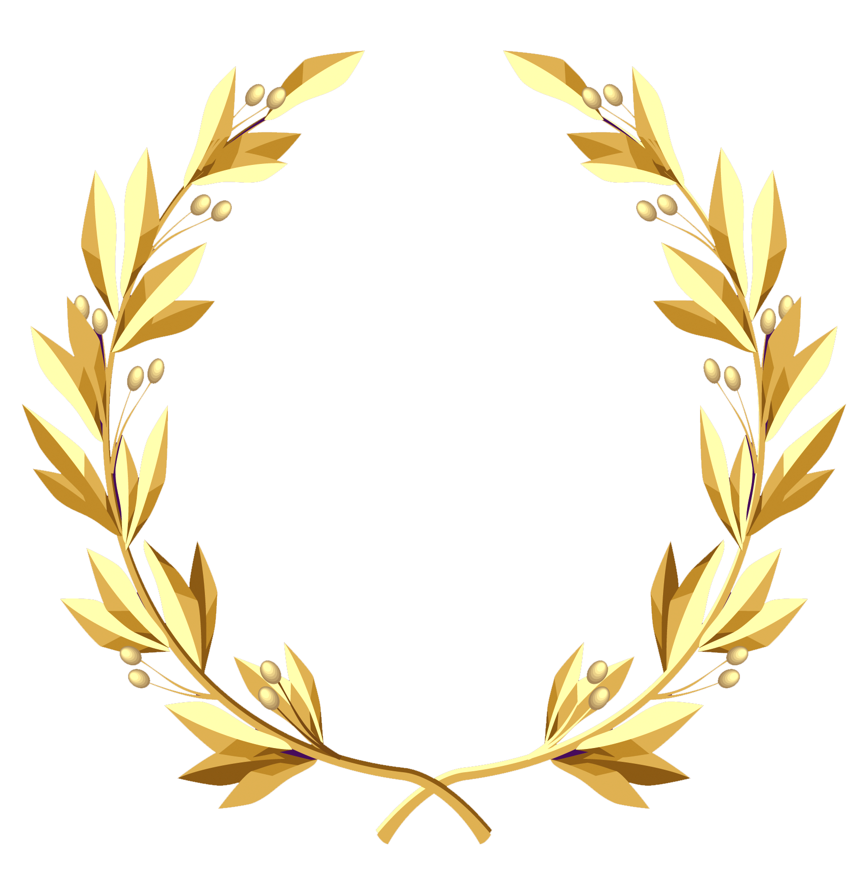 Laurel crown black and white clipart image free library Transparent Gold Wreath PNG Clipart Picture | картинки | Pinterest ... image free library