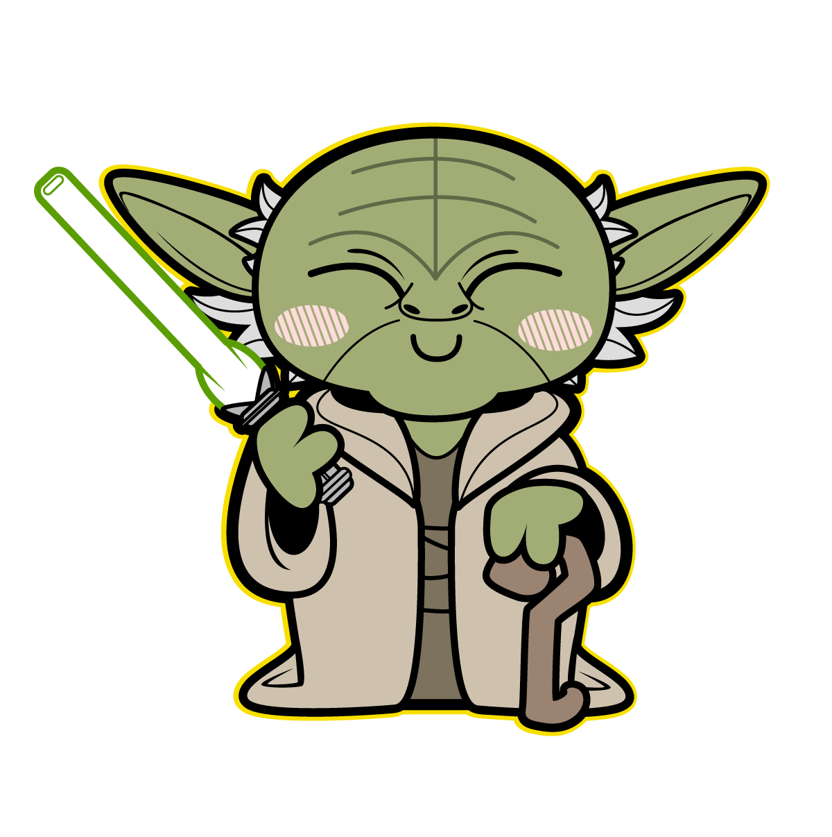 Star wars family decals clipart png freeuse library yoda | TieFighters | Star Wars | Pinterest | Star, Starwars and Chibi png freeuse library