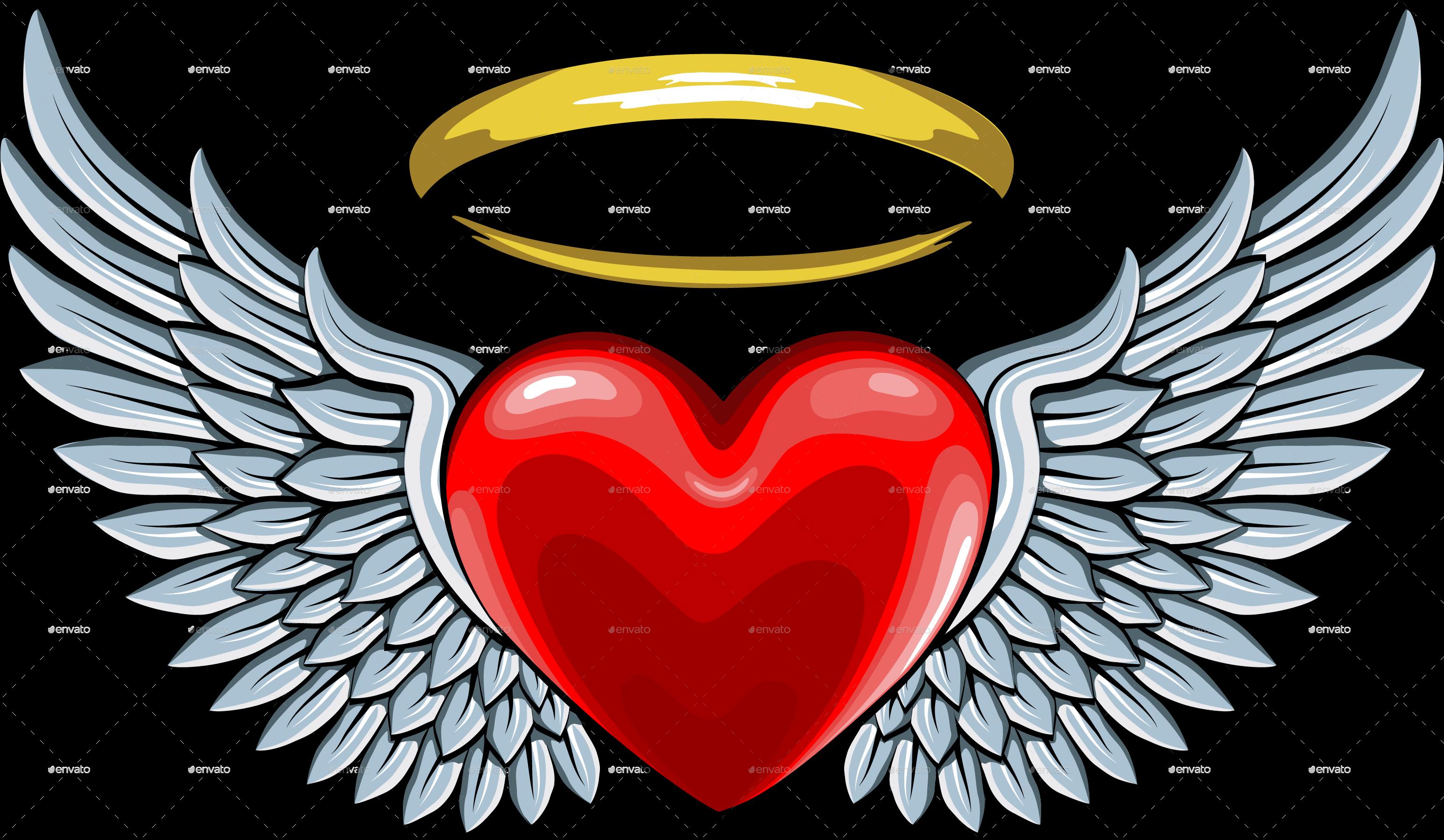 Halo heart clipart clip download Výsledok vyhľadávania obrázkov pre dopyt heart with angel wings ... clip download