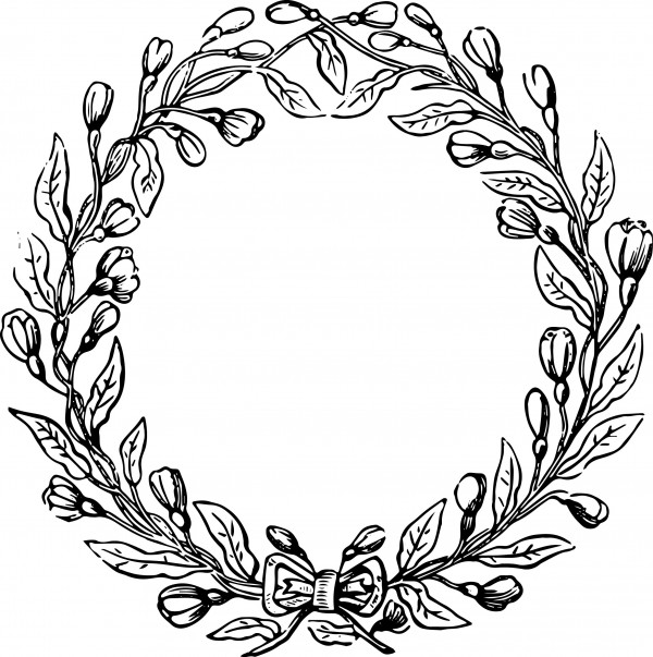 Halo of flowers clipart black and white free picture transparent Flower Crown Clipart | Free download best Flower Crown Clipart on ... picture transparent