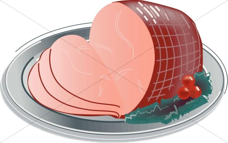 Ham dinner clipart jpg royalty free download Sliced Christmas Ham | Church Food Clipart jpg royalty free download