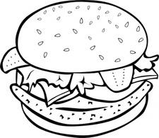 Hamburger clipart black and white jpg royalty free library Free Hamburger Cliparts Black, Download Free Clip Art, Free Clip Art ... jpg royalty free library