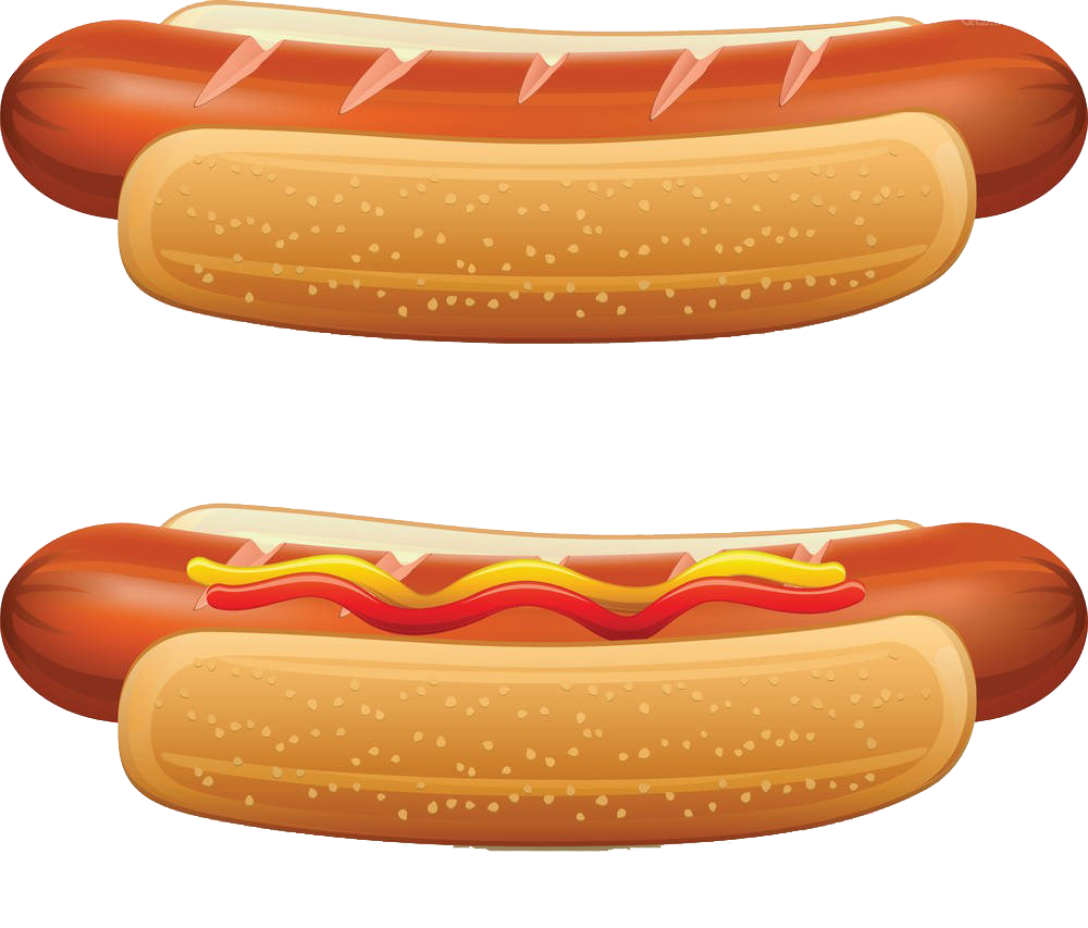 Hot dog bun clipart picture black and white library Hot dog Hamburger Fast food Clip art - Hot dog painted image 1000 ... picture black and white library