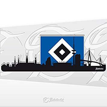 Hamburger sv clipart jpg black and white download Hamburger SV HSV Hamburg Skyline Sticker 20 x 7 cm: Amazon.co.uk ... jpg black and white download