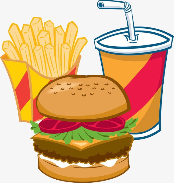 Hamburgers and fries clipart clipart black and white library Hamburger and fries clipart 4 » Clipart Portal clipart black and white library
