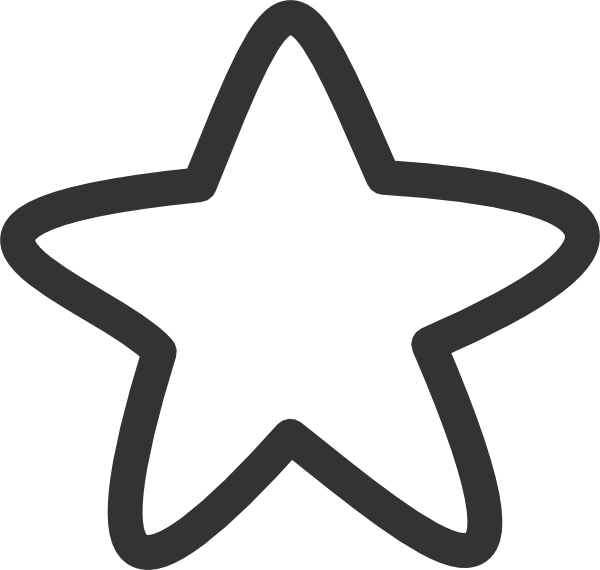 Star student clipart black and white graphic freeuse White Star clip art - vector | For future use | Pinterest | Clip art graphic freeuse