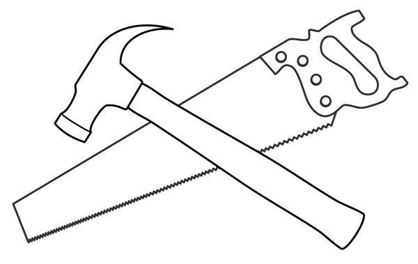 Hammer and saw clipart transparent library Saw and hammer clipart kid 3 | cricut | Clip art, Hammer tool, Drawings transparent library