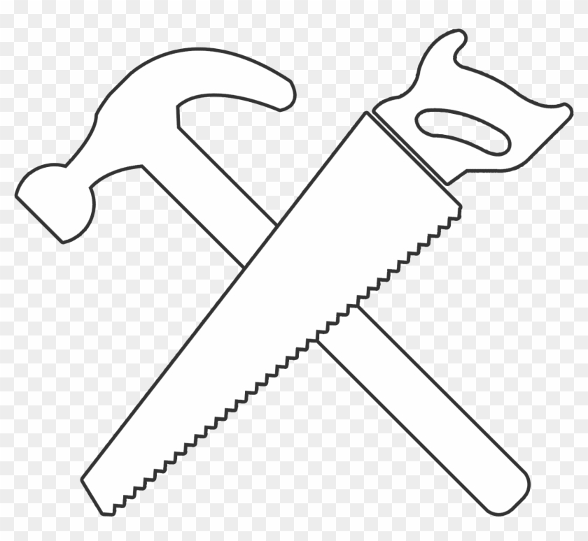 Hammer and saw clipart jpg royalty free Gavel Svg Black - White Hammer And Saw, HD Png Download - 1654x1654 ... jpg royalty free