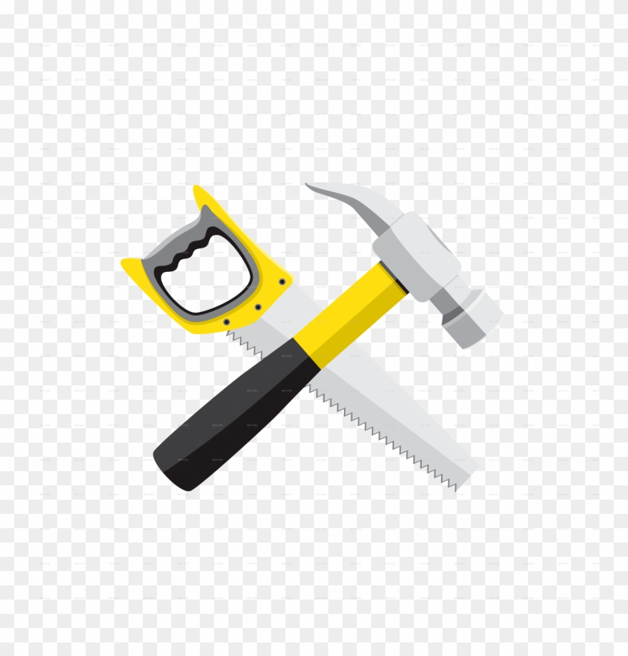 Hammer and saw clipart png freeuse stock Hammer Saw Clipart (#599900) - PinClipart png freeuse stock