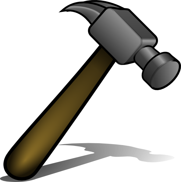 Hammers clipart vector freeuse Hammer Clip Art at Clker.com - vector clip art online, royalty free ... vector freeuse