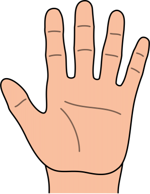 Hand by hand clipart black and white download Free clipart of a hand - ClipartFest black and white download