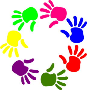 Hand by hand clipart clip stock Little Hands Clipart - Clipart Kid clip stock