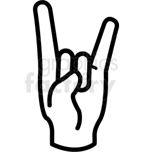 Hand clipart vector picture library hand devil horns gesture vector icon . Royalty-free icon # 406784 picture library