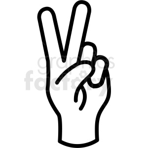 Hand clipart vector image library download hand peace gesture vector icon . Royalty-free icon # 406812 image library download