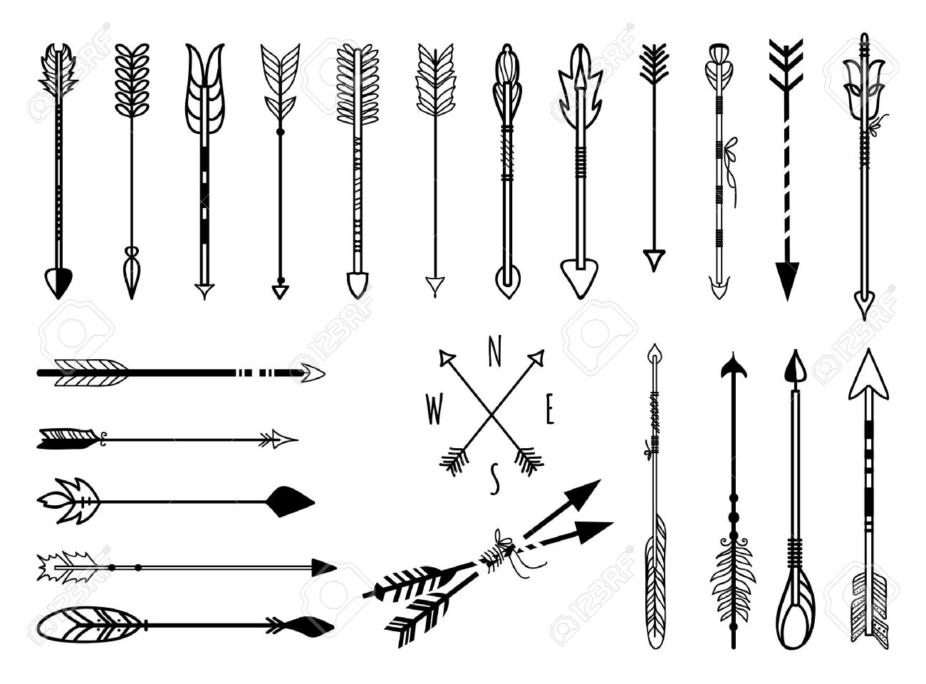 Hand drawn arrow clipart banner freeuse stock Hand Drawn Arrows Set Royalty Free Cliparts, Vectors, And Stock ... banner freeuse stock
