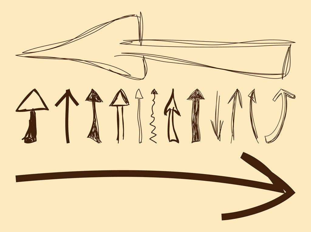 Hand drawn arrow clipart image library Hands Arrows Clipart - Clipart Kid image library