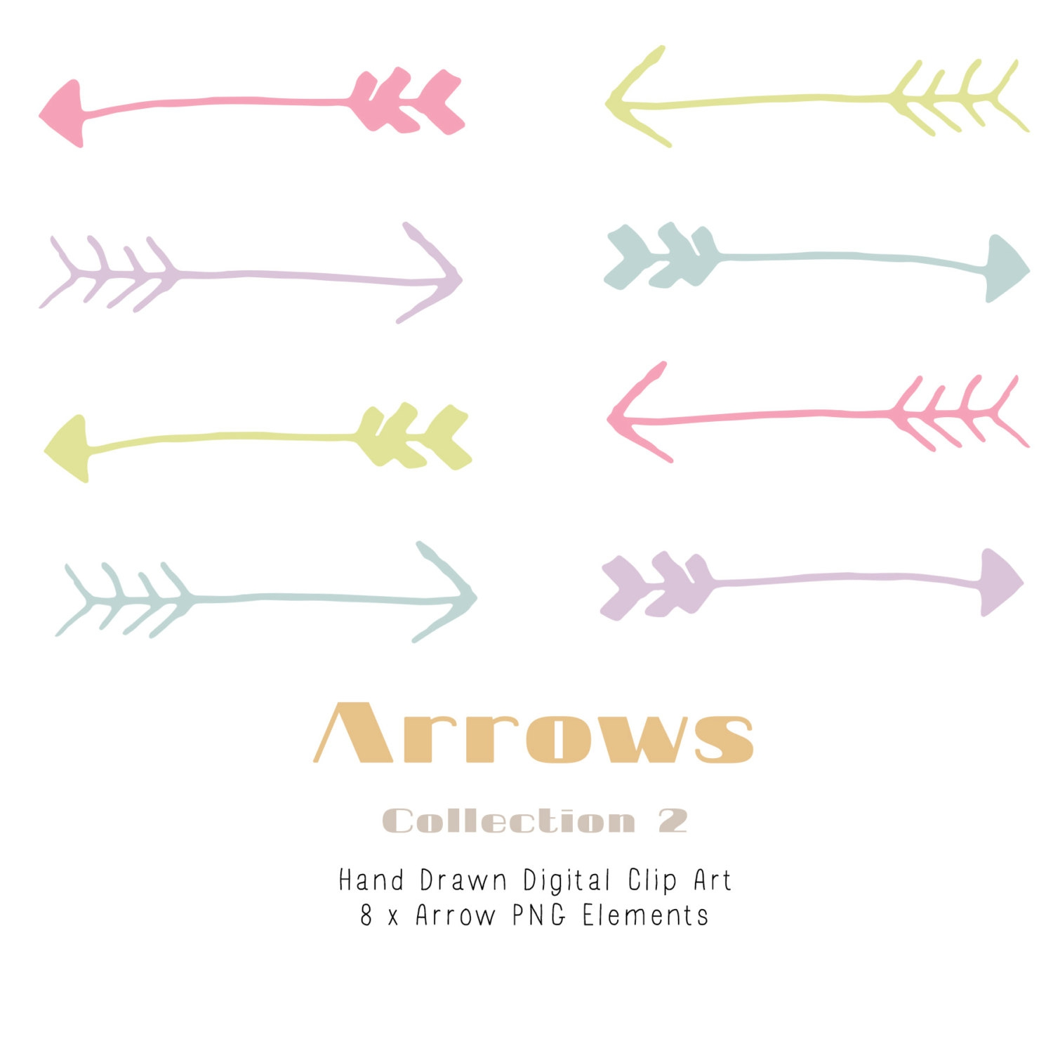 Hand drawn arrow clipart png library stock Hand Drawn Arrow Clipart#2024193 png library stock