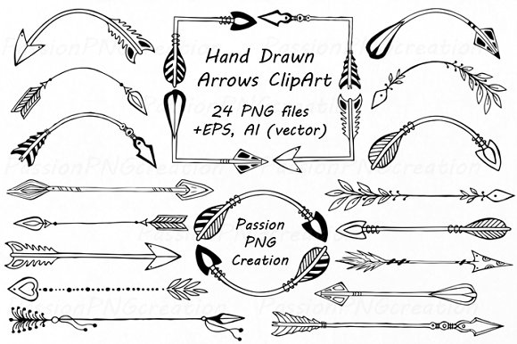 Hand drawn arrow clipart graphic download Hand Drawn Arrows Clipart ~ Illustrations on Creative Market graphic download