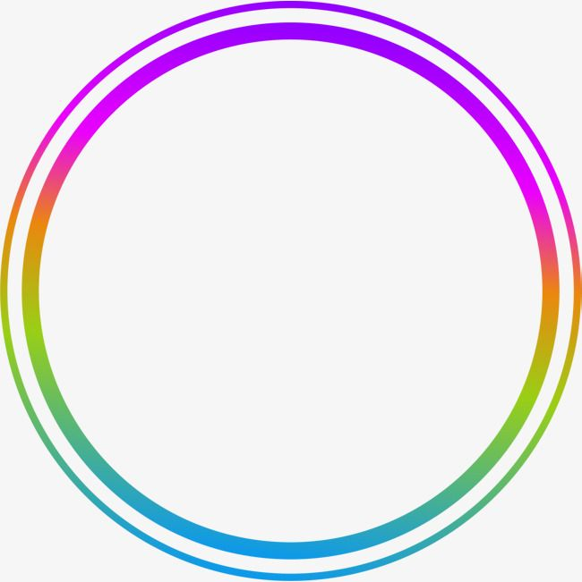 Hand drawn circle clipart free png black and white download Hand Painted Colorful Circle Ring, Circle Clipart, Hand Drawn Circle ... png black and white download