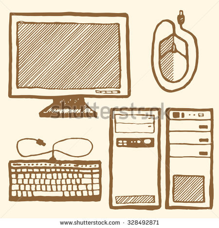 Hand drawn computer keyboard clipart graphic free library Stock Images similar to ID 38557426 - computer keyboard peripheral... graphic free library