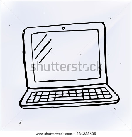 Hand drawn computer keyboard clipart image freeuse download Computer Drawing Stock Images, Royalty-Free Images & Vectors ... image freeuse download