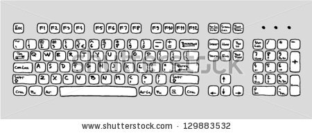 Hand drawn computer keyboard clipart svg library download Hand drawn computer keyboard clipart - ClipartFest svg library download
