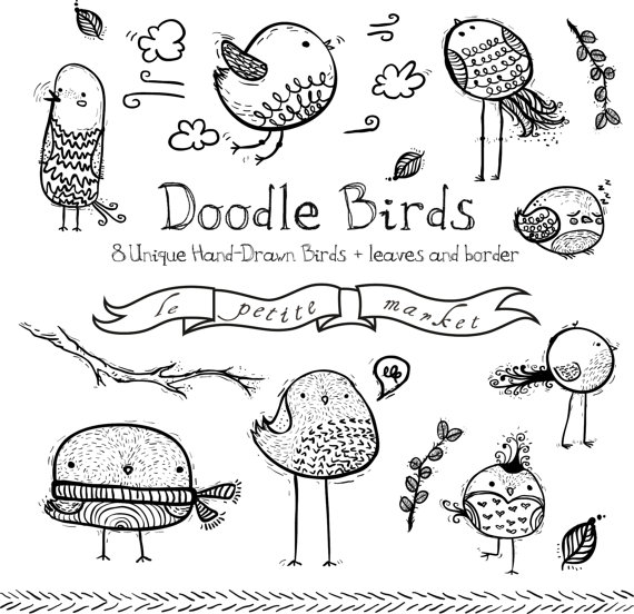 Hand drawn doodles clipart picture royalty free Doodly Bird Clipart Images, Cute Bird Drawings, Doodle Bird Clip Art ... picture royalty free