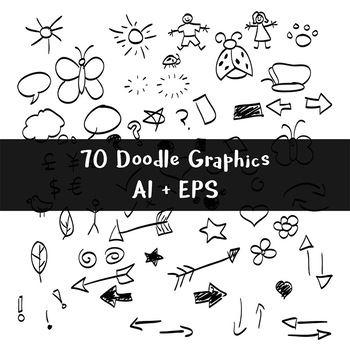 Hand drawn doodles clipart svg 70 Black Hand Drawn Doodle Graphics | Vector Shape Clipart | AI, EPS svg