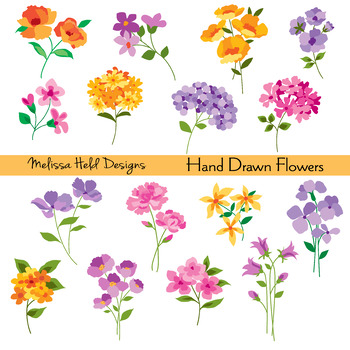 Hand drawn flowers clipart svg download Hand Drawn Flowers Clipart svg download