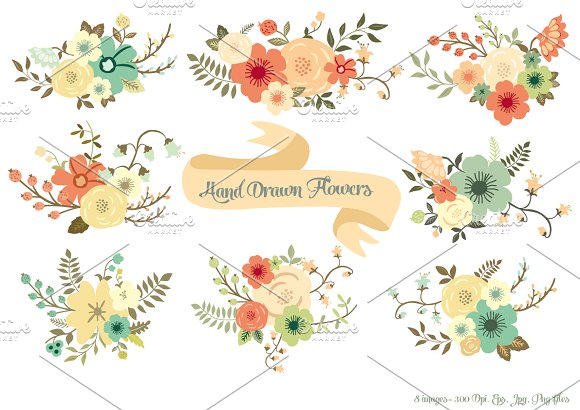 Hand drawn flowers clipart clipart free Hand Drawn Flowers clipart free