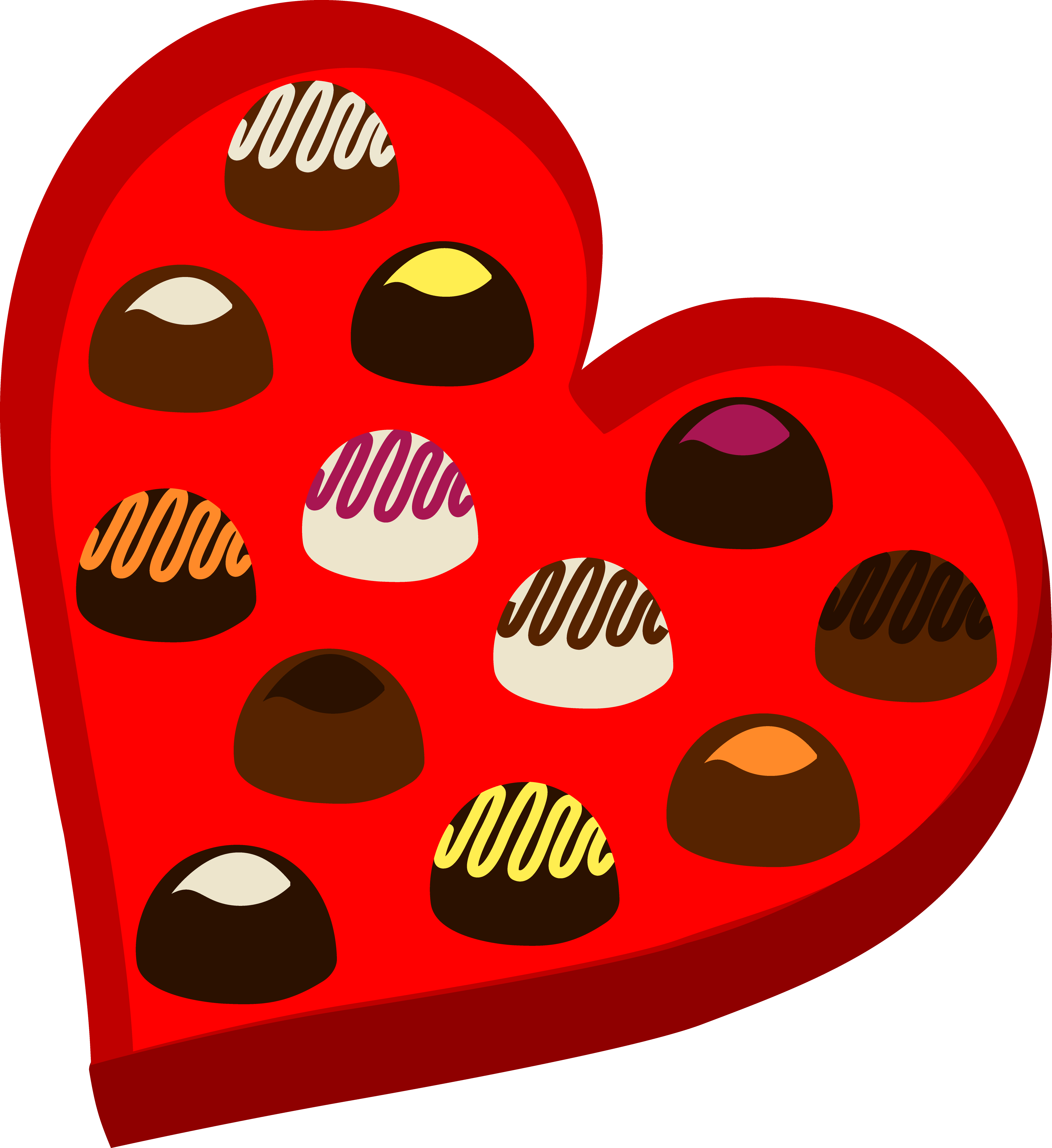 Hand drawn heart clipart free vector black and white library Chocolate Box Drawing at GetDrawings.com | Free for personal use ... vector black and white library