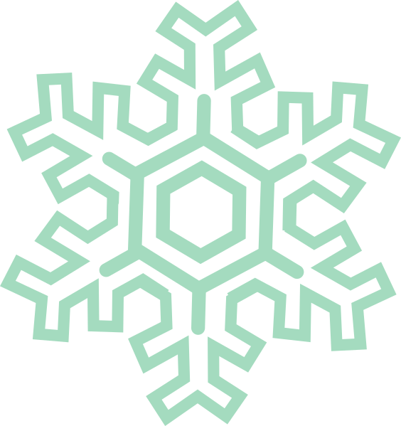 Hand drawn snowflake clipart jpg royalty free stock Green Mint Snowflake Clip Art at Clker.com - vector clip art online ... jpg royalty free stock