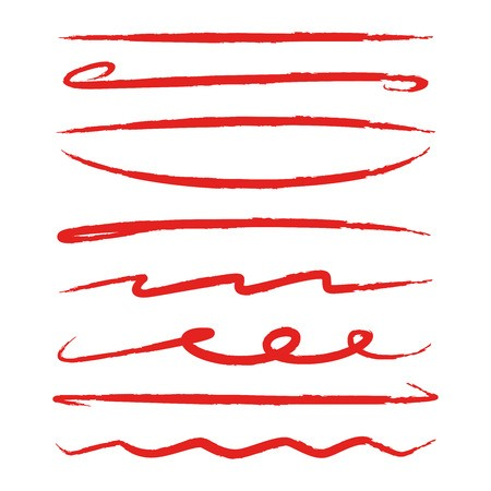 Hand drawn underline clipart image black and white library red hand drawn underlines and marker elements: Royalty-free vector ... image black and white library