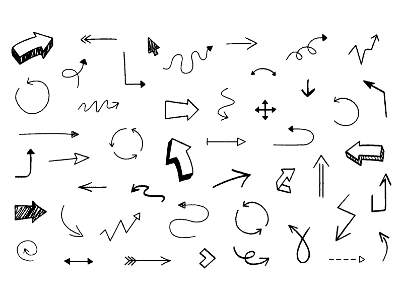 Hand drawn underline clipart clip freeuse 46 Hand Drawn Arrows Sketch freebie - Download free resource for ... clip freeuse