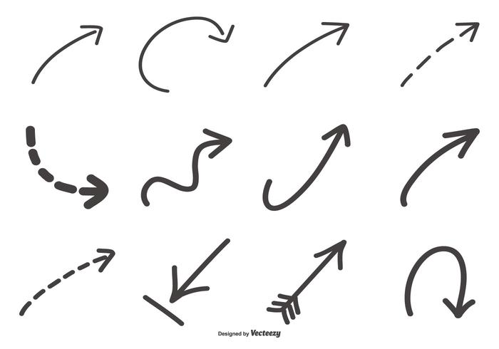 Hand drawn vector clipart vector transparent Hand Drawn Arrow Collection - Download Free Vectors, Clipart ... vector transparent