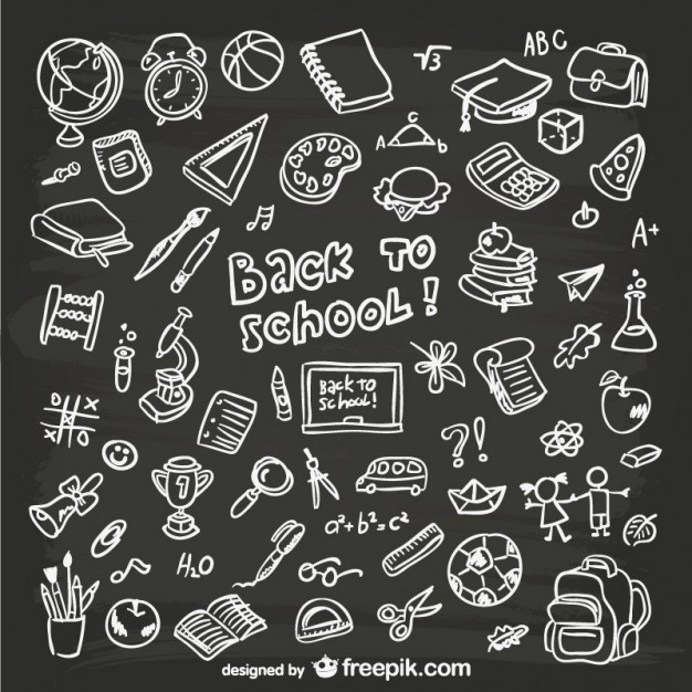 Hand drawn vector clipart svg library Hand-drawn school graphics Vector | Free Download svg library