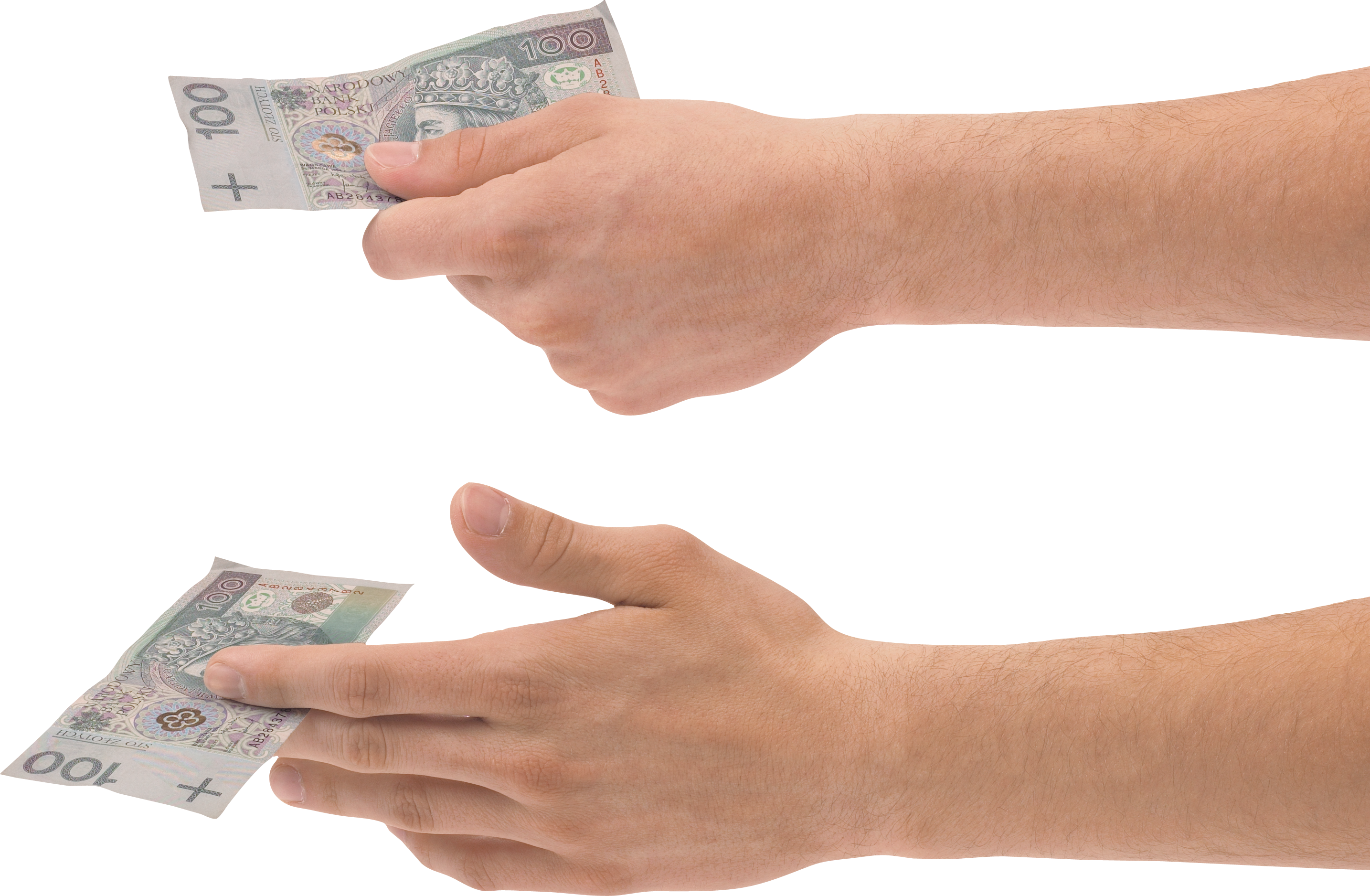 Handing out money clipart banner transparent library Hand Holding Money Two | Isolated Stock Photo by noBACKS.com banner transparent library
