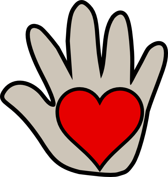 Hands making a heart clipart image royalty free stock Kissing Hand 2 Clip Art at Clker.com - vector clip art online ... image royalty free stock