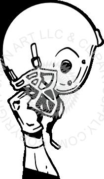 Hand holding a football helmet clipart vector black and white stock Football Helmet Clipart Black And White | Free download best ... vector black and white stock