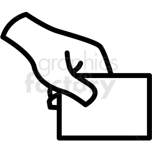 Hand holding card clipart image freeuse hand holding card vector icon . Royalty-free icon # 406824 image freeuse