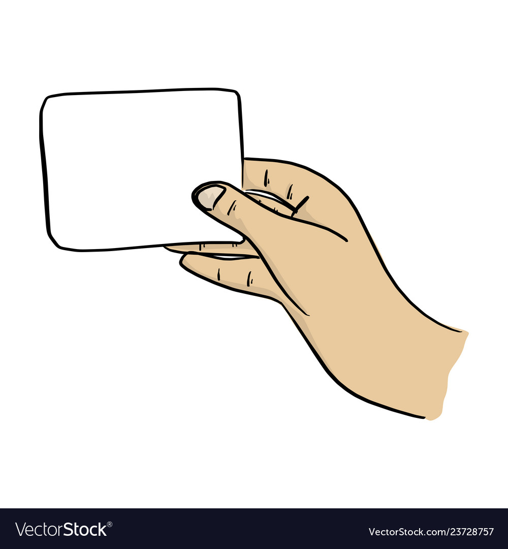 Hand holding card clipart clip black and white library Close-up hand holding blank card clip black and white library