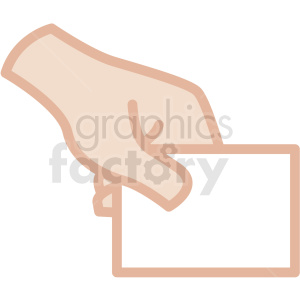Hand holding card clipart clipart freeuse white hand holding card vector icon . Royalty-free icon # 406793 clipart freeuse