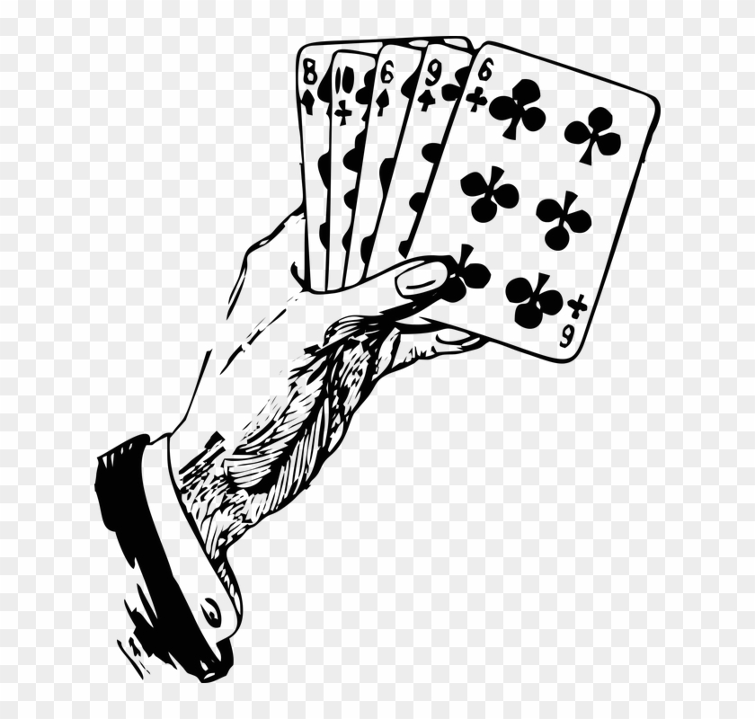 Hand holding card clipart clipart royalty free Cards Clipart Hand Holding - Playing Card Black And White, HD Png ... clipart royalty free