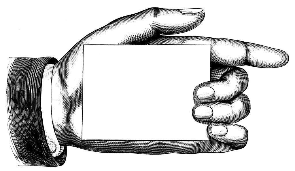 Hand holding card clipart png Bookplate Illustration of Pointing Hand Holding Blank Card png