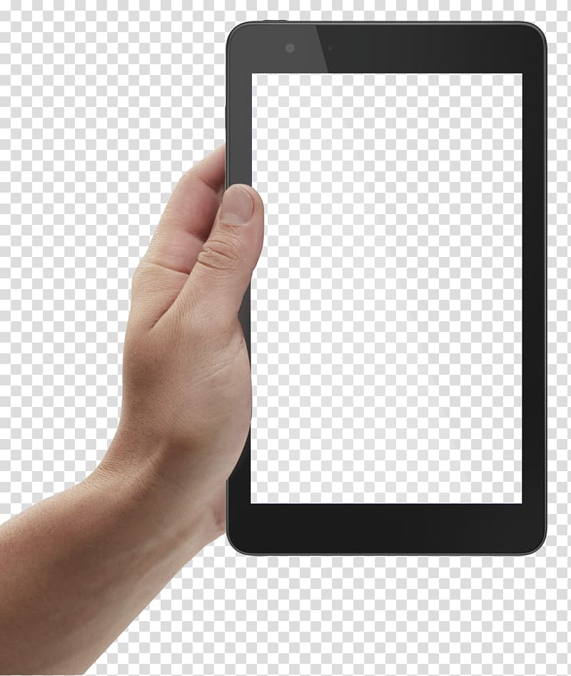 Hand holding ipad clipart image stock Person holding black tablet computer, iPad Don Jediondo Radio, Hand ... image stock