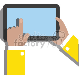 Hand holding ipad clipart image transparent library hands holding ipad surface device flat design vector art no background  clipart. Royalty-free clipart # 400635 image transparent library