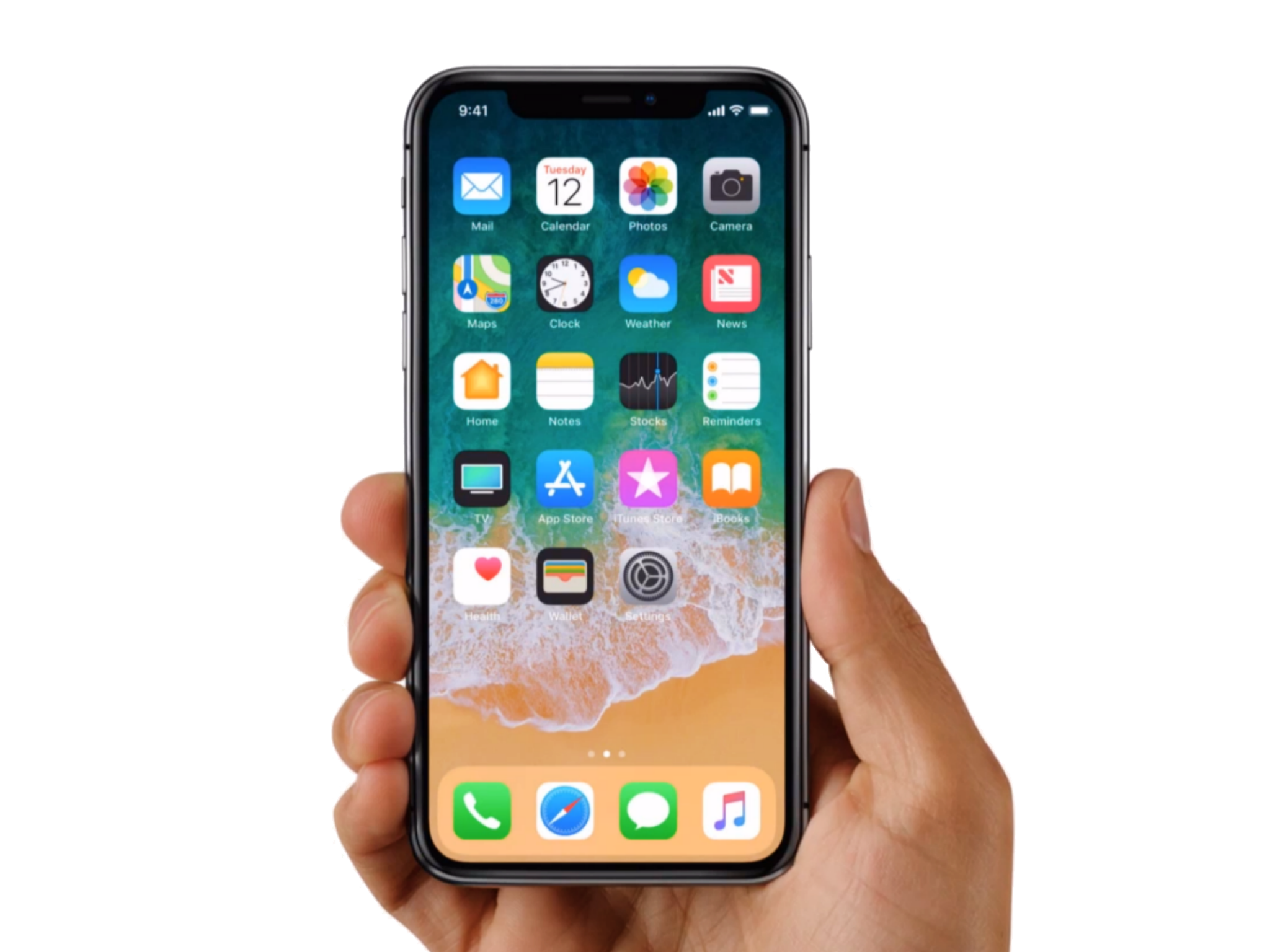 Hand holding iphone x clipart clip library stock Iphone X 10 With Hand Png clip library stock